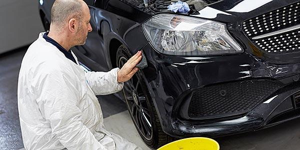 TARC Technician Repairing Paintwork